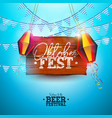 oktoberfest banner with bavaria party vector image vector image