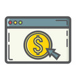 online banking filled outline icon business vector image vector image