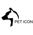 pet icon vector image vector image