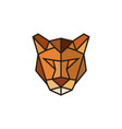 polygonal puma emblem isolated vector image vector image