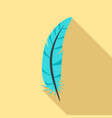 print feather icon flat style vector image