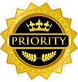 priority gold icon vector image vector image
