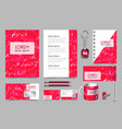 professional universal abstract branddesign kit vector image