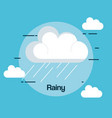 rainy weather status icon vector image