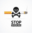 realistic 3d detailed stop smoking concept banner vector image vector image