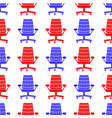 red blue silhouette seamless pattern vector image vector image