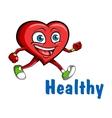 Running heart vector image vector image