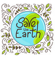 save earth vector image