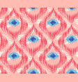 seamless pattern in ikat style vector image vector image