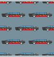 Seamless pattern luxury limousine long car
