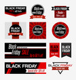 set of black friday sale vector image