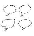 Set of chat ink grunge bubbles vector image