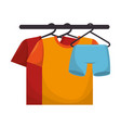 shirts hanging in the laundry vector image vector image