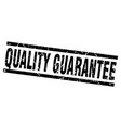 square grunge black quality guarantee stamp vector image vector image