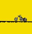 stylish motorbike on a yellow background vector image