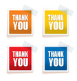 Thank you tag colour vector image