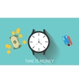 time is money or invest in time vector image