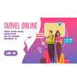 travel booking landing page vector image