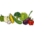Vegetables big group cartoon vector