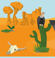 vultures on desert vector image vector image