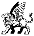 winged lion vector image vector image
