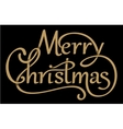 Christmas handdrawn lettering with shadows vector image