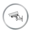 Security camera icon in cartoon style isolated on vector image