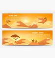 desert sand landscape banner set vector image