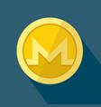 monero icon as golden coin vector image