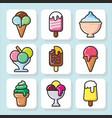 ice cream icons 1 vector image