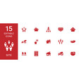 15 site icons vector image vector image