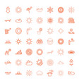 49 sun icons vector image vector image