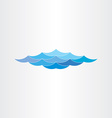 abstract blue water waves sea or ocean vector image
