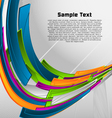 abstract colorful designed vector background vector image vector image