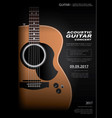 acoustic guitar concert poster vector image vector image