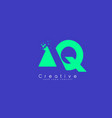 aq letter logo design with negative space concept vector image vector image