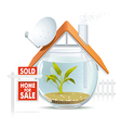 Aquarium home sold vector image vector image
