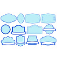 blue labels vector image vector image