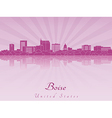 Boise skyline in purple radiant orchid vector image vector image