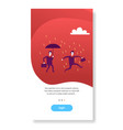 businessman holding umbrella during rain finance vector image vector image