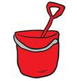 cartoon bucket and spade vector image vector image