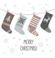 christmas socks a set of socks for the holiday vector image