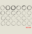 circle stamp grunge style texture background vector image