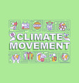 climate movement word concepts banner vector image