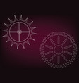 cogwheels on a burgundy vector image vector image