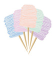 colorful candy cotton vector image