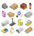 construction and building industry materials vector image vector image