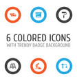 construction icons set collection of lifting hook vector image