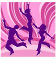 dancing people in rainbows vector image vector image