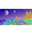 fabulous home on a magical planet overlooking the vector image vector image